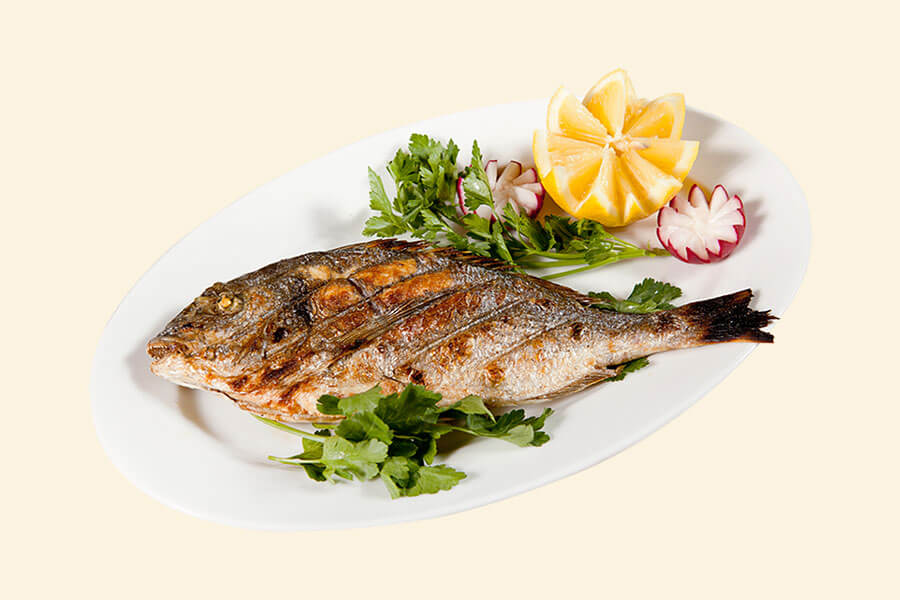 GRILLED GIFT-HEAD BREAM (1/100)